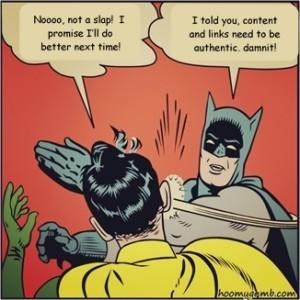 Batman Google Slap