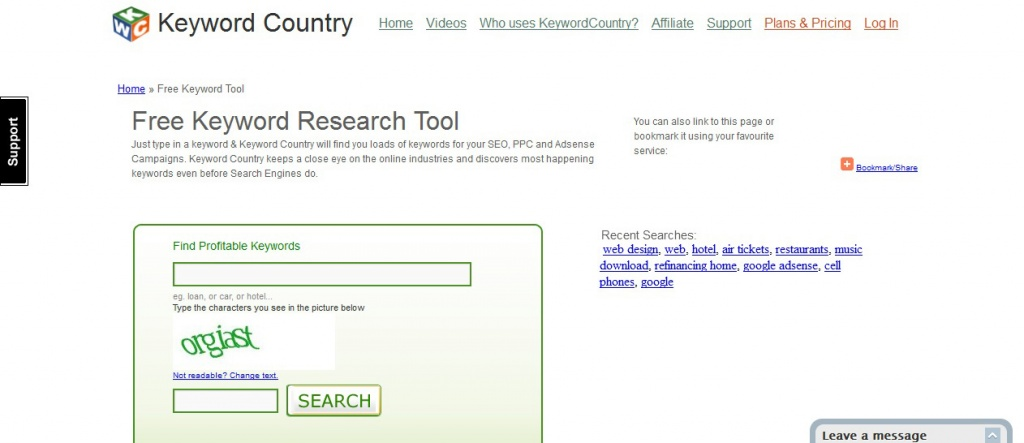 Keyword-Country-Screenshot