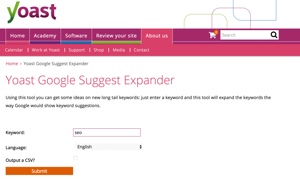 google suggest expander